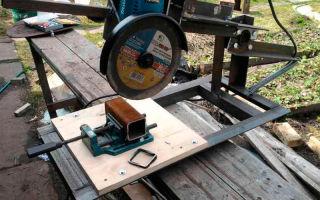 Стойка для болгарки своими руками: инструкция изготовления с пошаговым фото