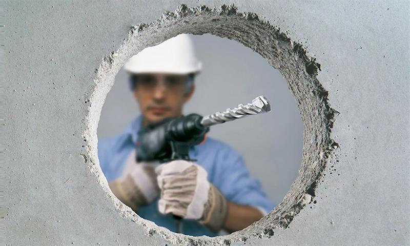 Просверлить бетон коронкой раствор строительный москва